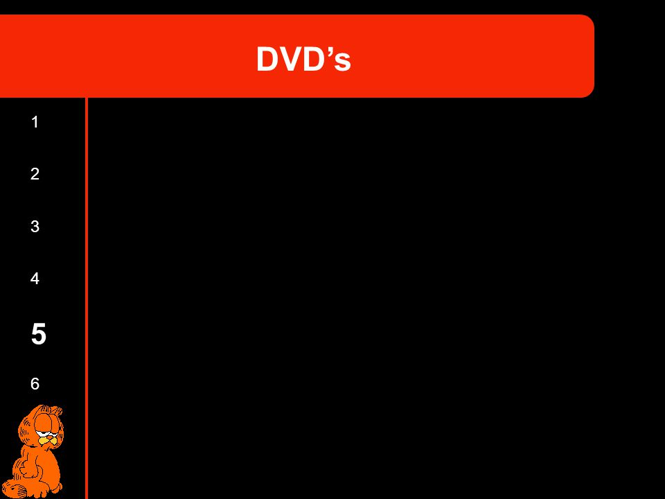 DVD's 1 2 3 4 5 6