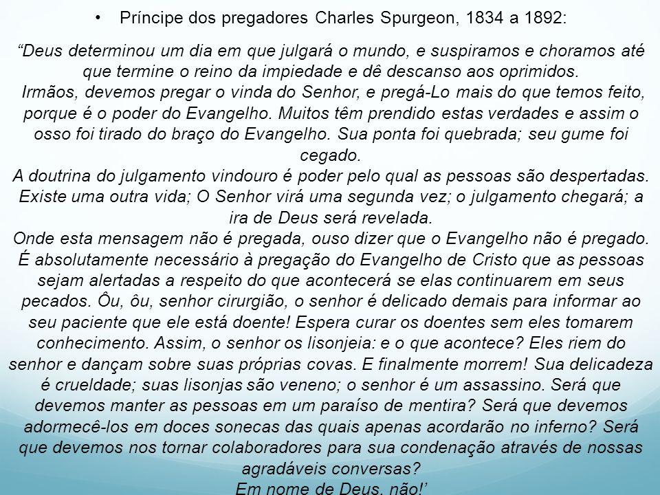 Príncipe dos pregadores Charles Spurgeon, 1834 a 1892: