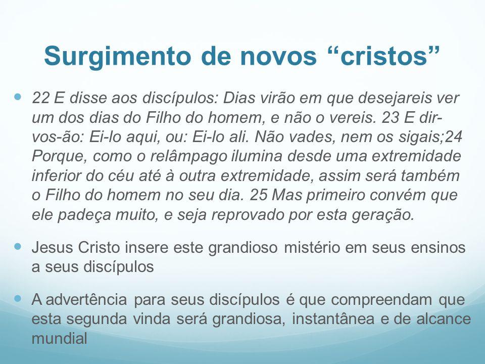 Surgimento de novos cristos