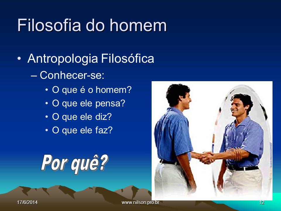 Filosofia do homem Por quê Antropologia Filosófica Conhecer-se: