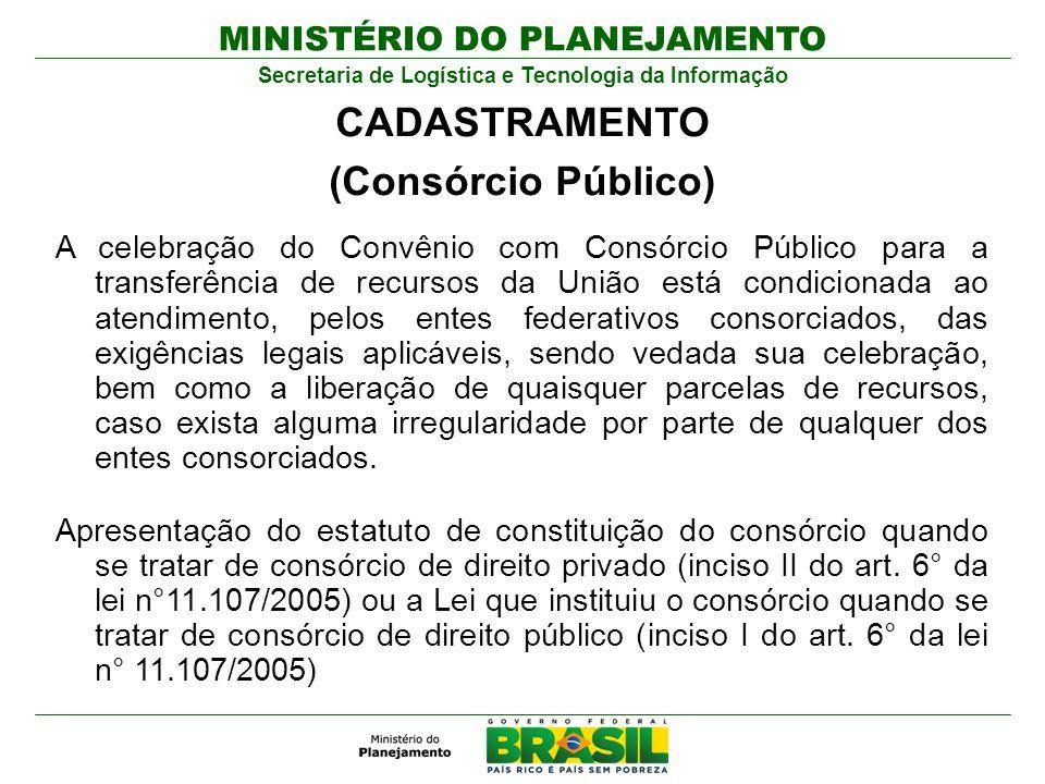 CADASTRAMENTO (Consórcio Público)