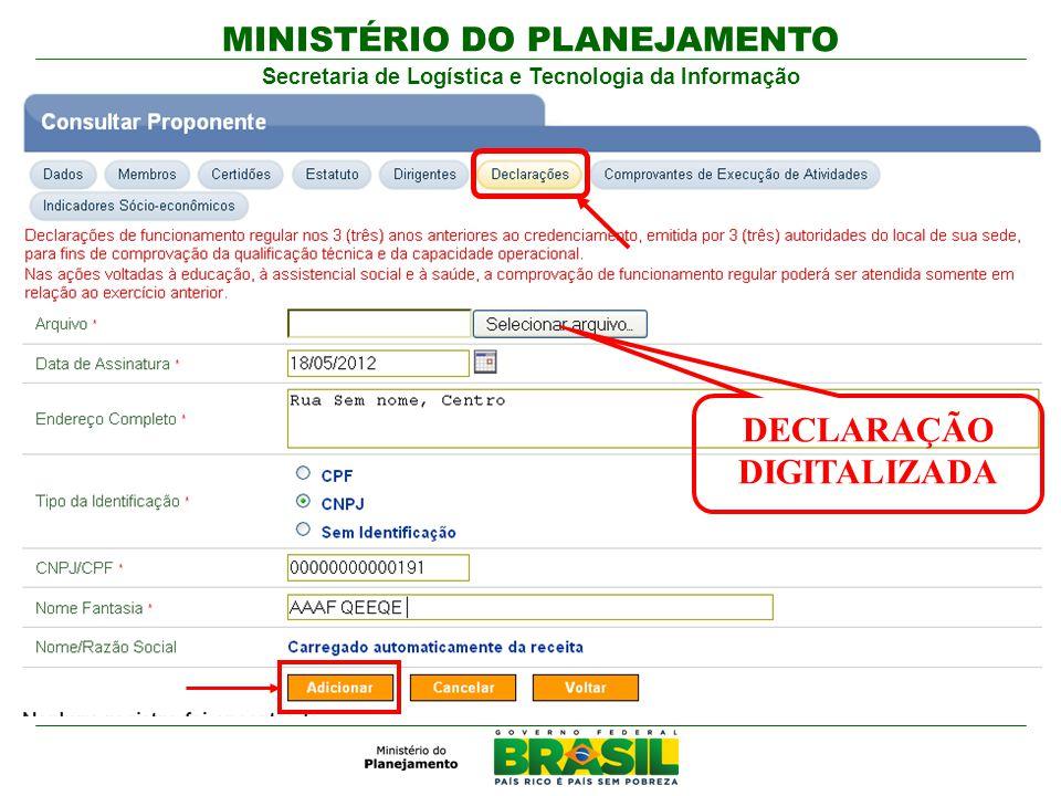 DECLARAÇÃO DIGITALIZADA
