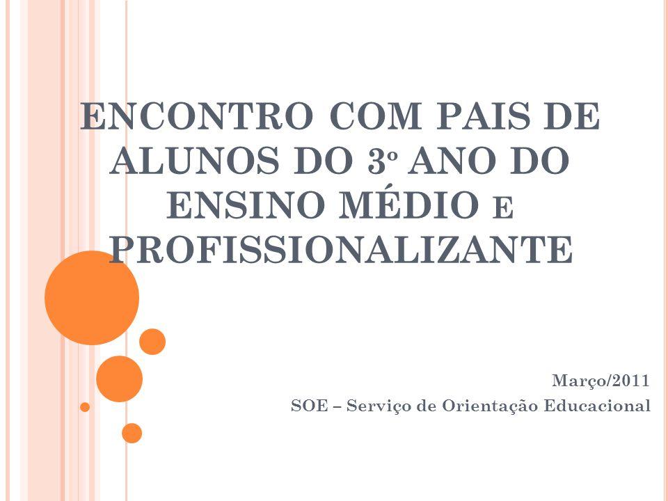Março/2011 SOE – Serviço de Orientação Educacional