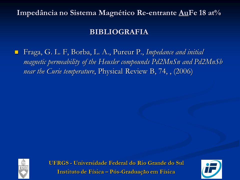 Impedância no Sistema Magnético Re-entrante AuFe 18 at% BIBLIOGRAFIA