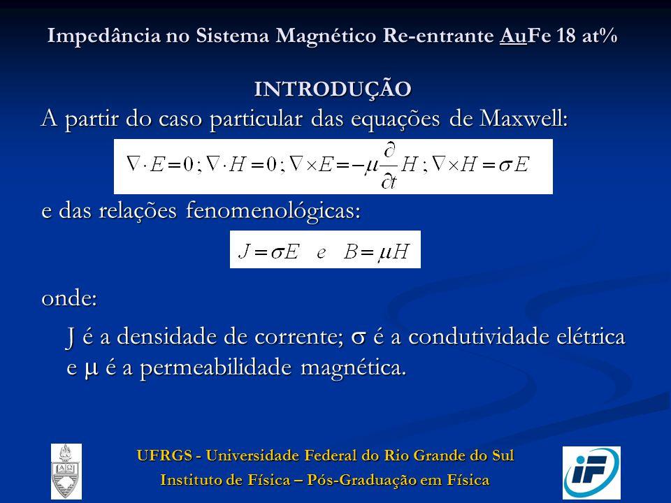 Impedância no Sistema Magnético Re-entrante AuFe 18 at% INTRODUÇÃO