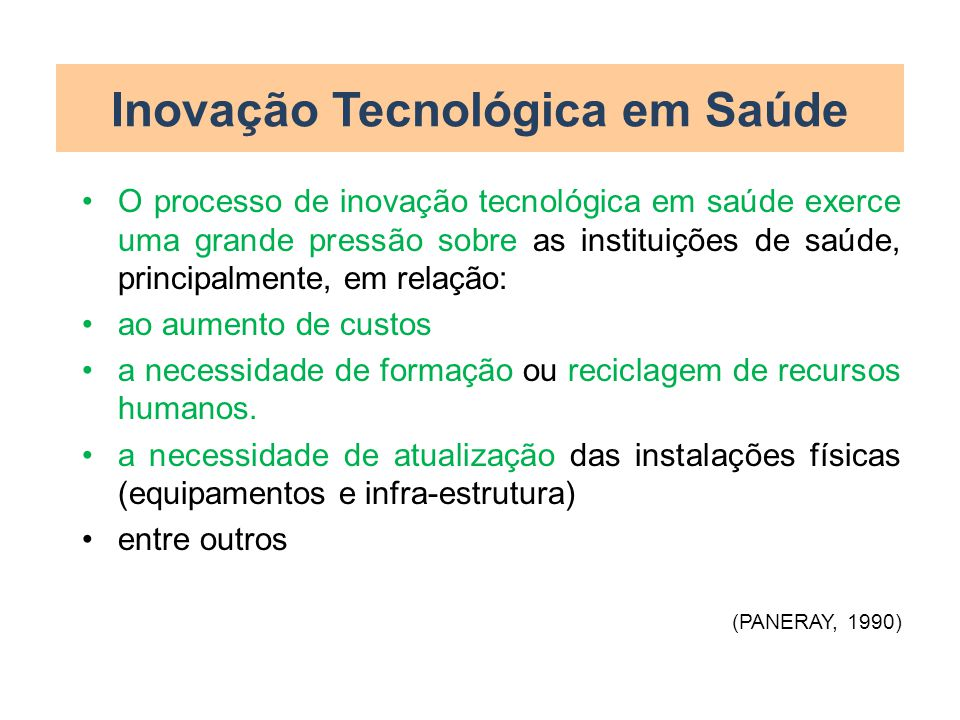 Inovação Tecnológica em Saúde
