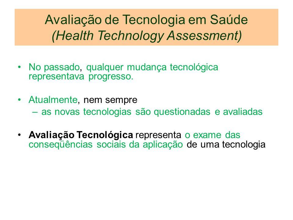 Avaliação de Tecnologia em Saúde (Health Technology Assessment)