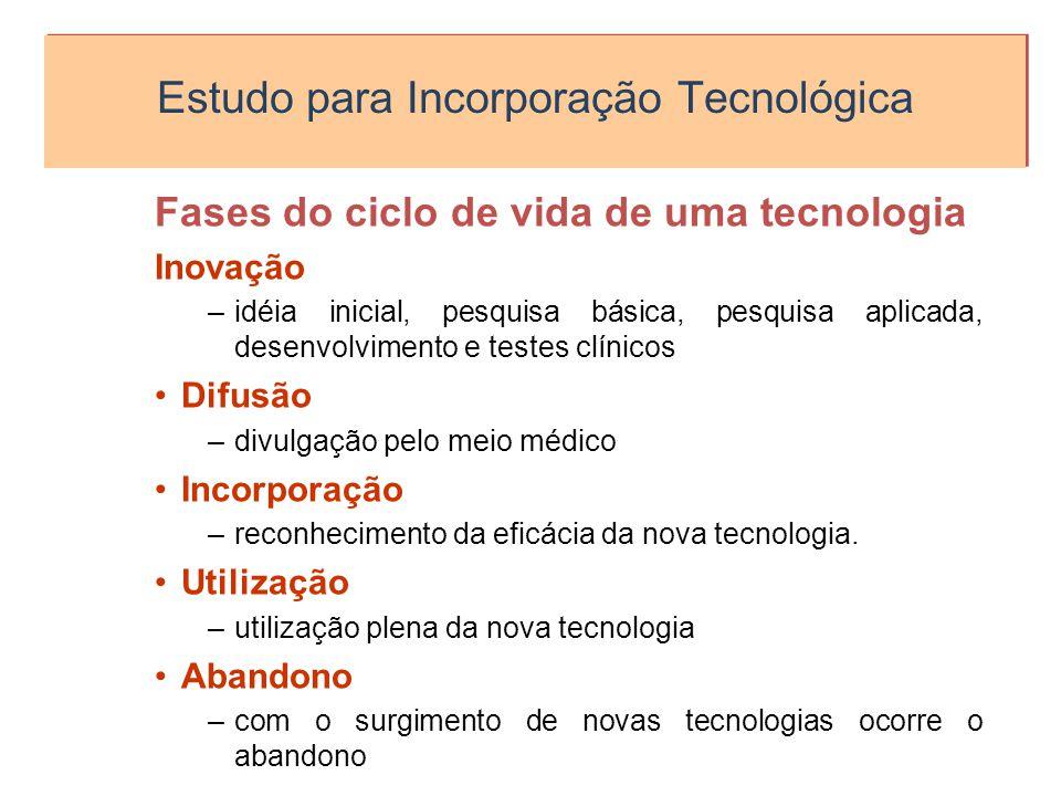 Estudo para Incorporação Tecnológica