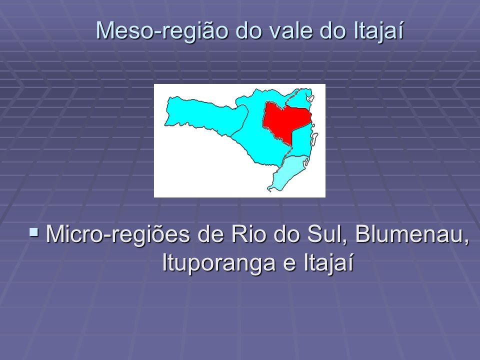 Meso-região do vale do Itajaí