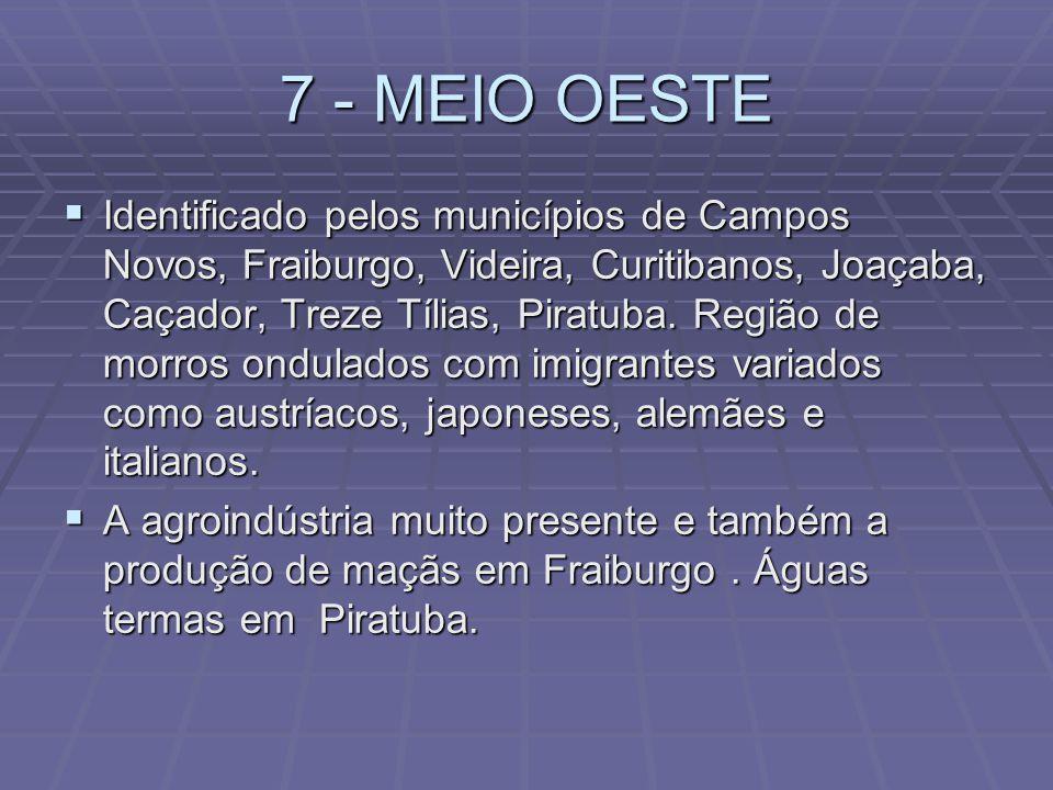 7 - MEIO OESTE