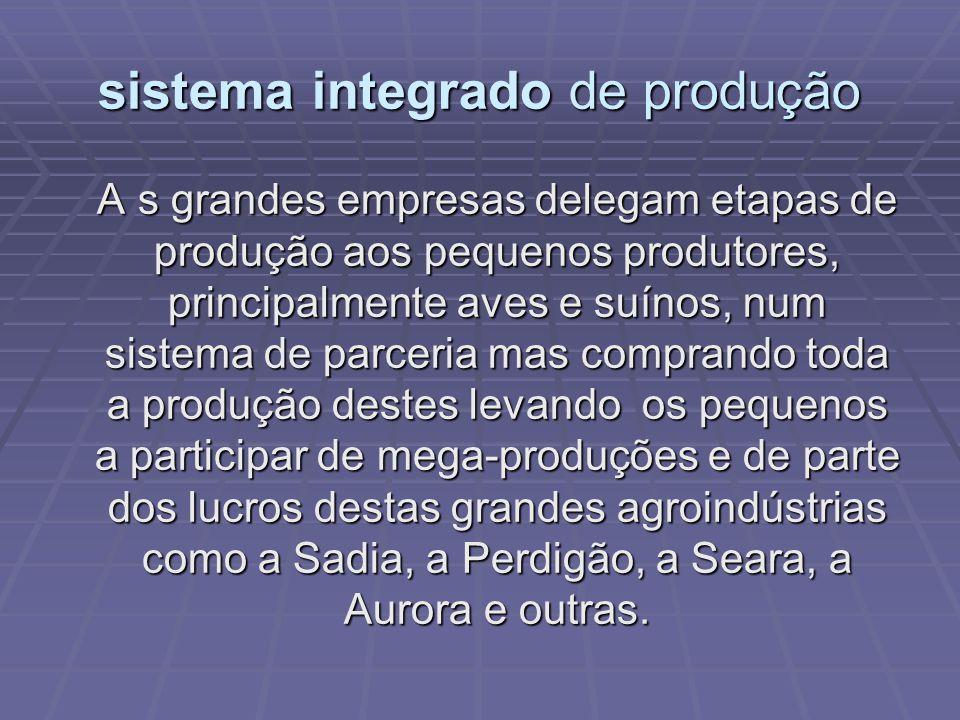sistema integrado de produção