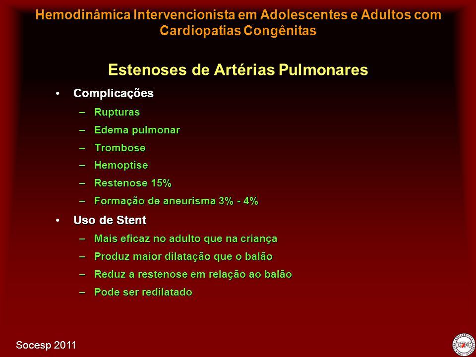 Estenoses de Artérias Pulmonares