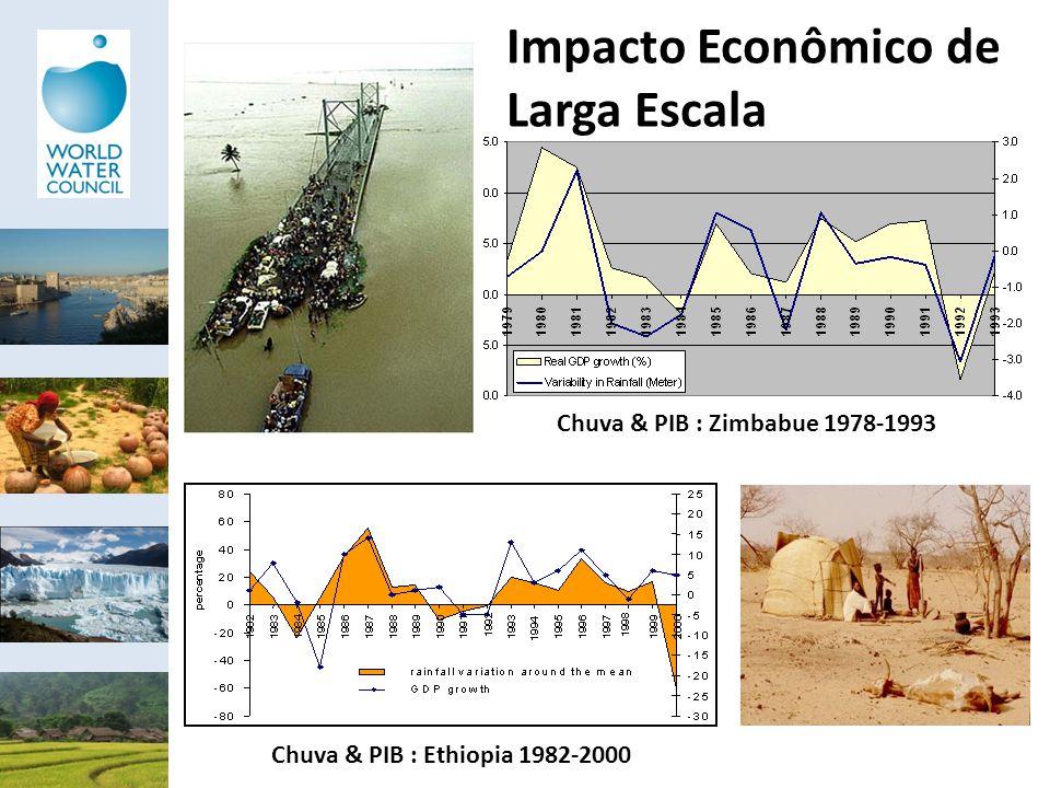 Impacto Econômico de Larga Escala Chuva & PIB : Zimbabue 1978-1993