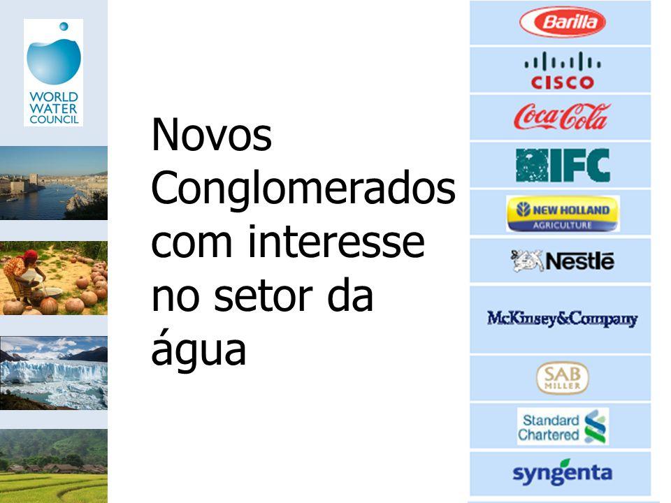 Novos Conglomerados com interesse no setor da água