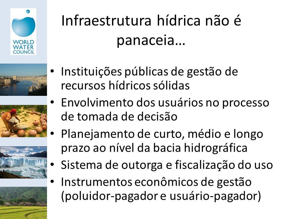 Infraestrutura hídrica não é panaceia…