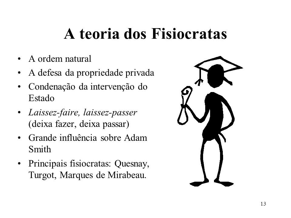 A teoria dos Fisiocratas