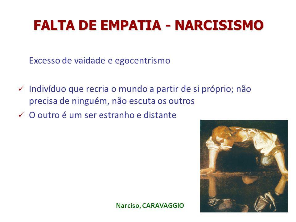 FALTA DE EMPATIA - NARCISISMO