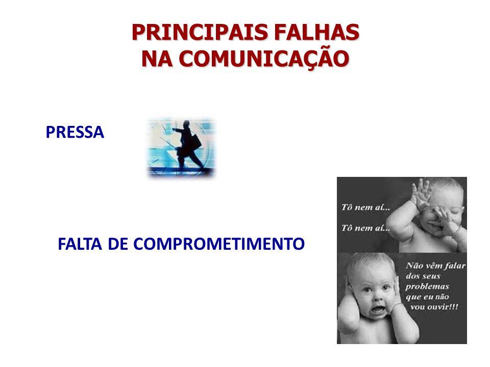PRINCIPAIS FALHAS NA COMUNICAÇÃO
