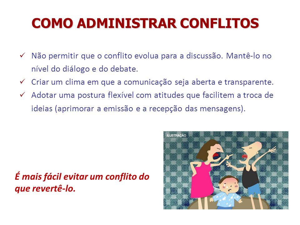 COMO ADMINISTRAR CONFLITOS