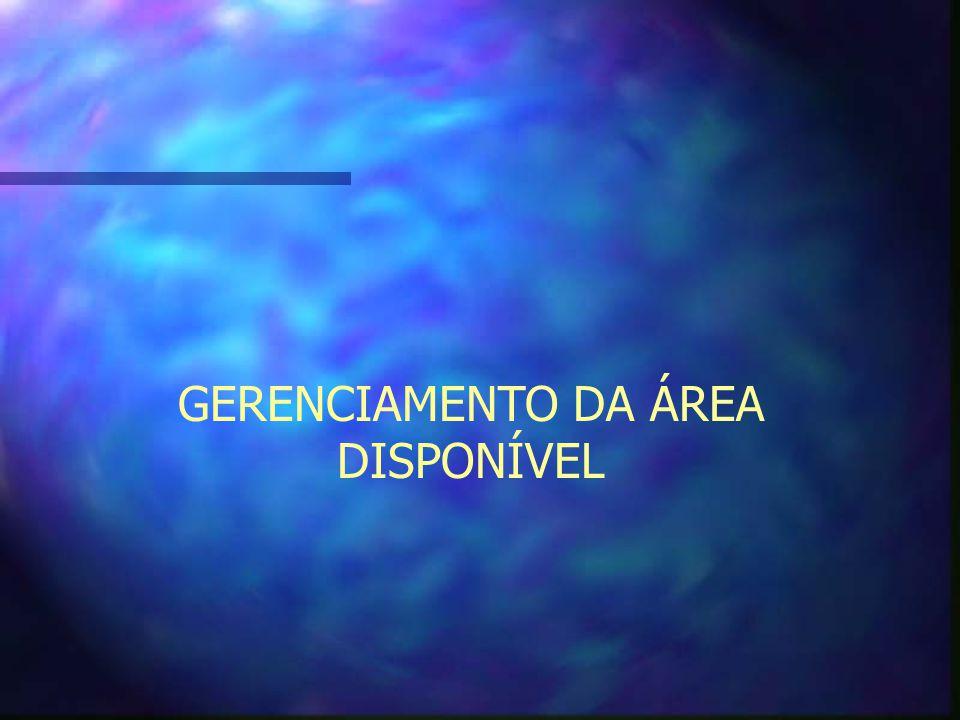 GERENCIAMENTO DA ÁREA DISPONÍVEL