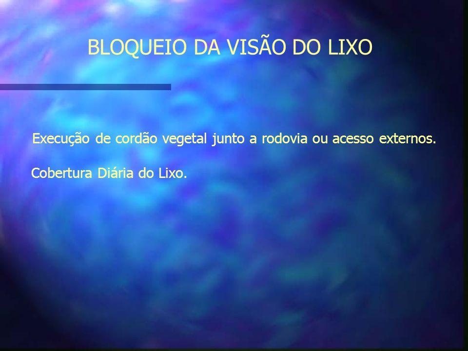 BLOQUEIO DA VISÃO DO LIXO