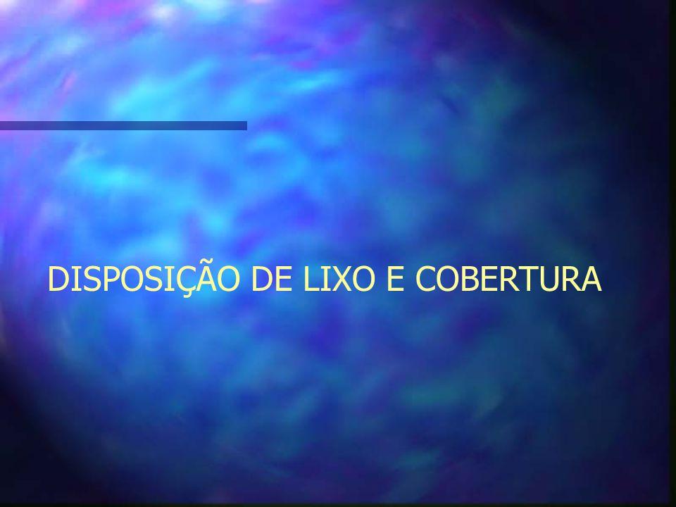 DISPOSIÇÃO DE LIXO E COBERTURA