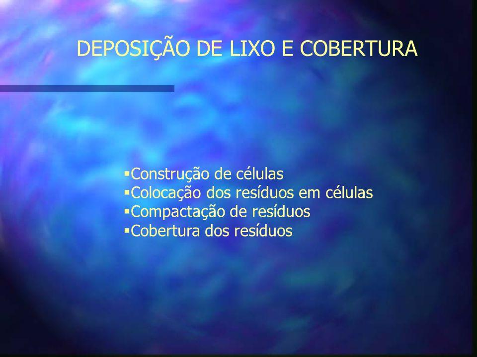 DEPOSIÇÃO DE LIXO E COBERTURA