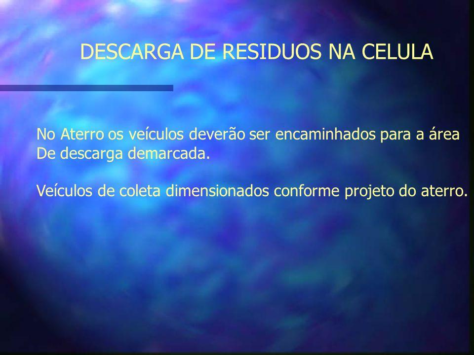 DESCARGA DE RESIDUOS NA CELULA
