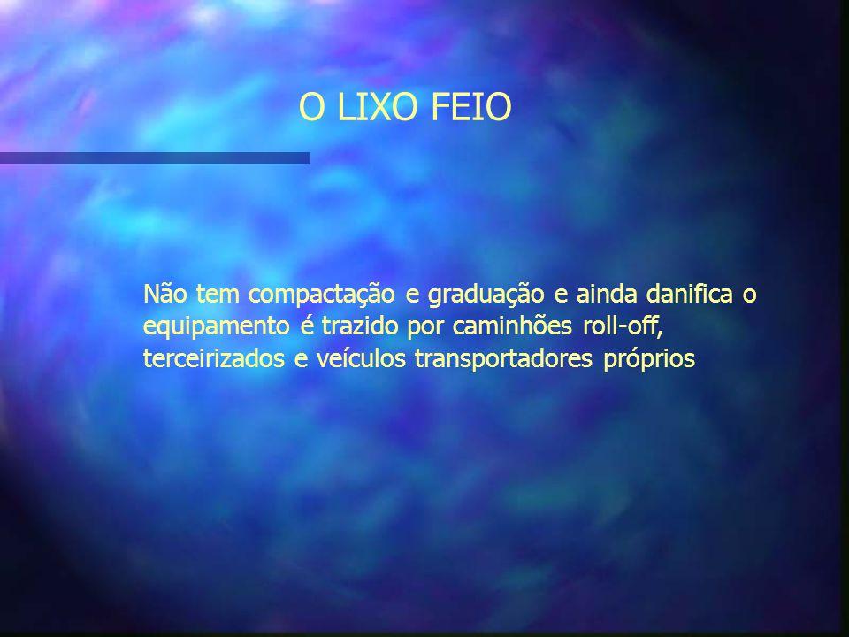 O LIXO FEIO Não tem compactação e graduação e ainda danifica o