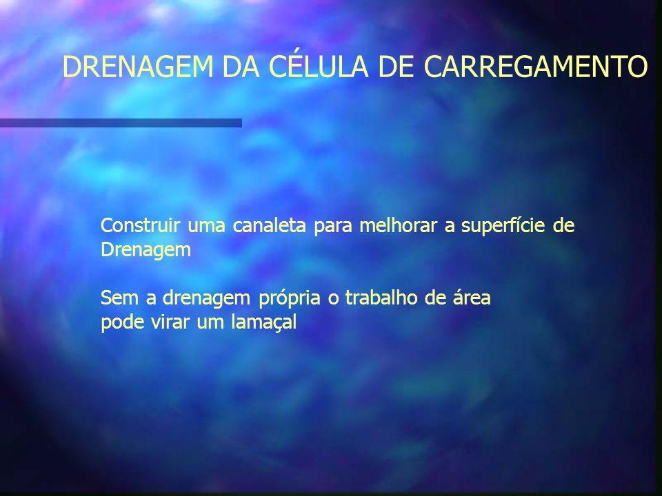 DRENAGEM DA CÉLULA DE CARREGAMENTO