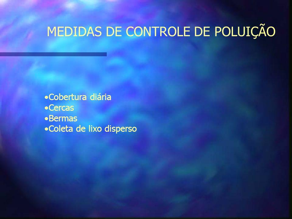 MEDIDAS DE CONTROLE DE POLUIÇÃO