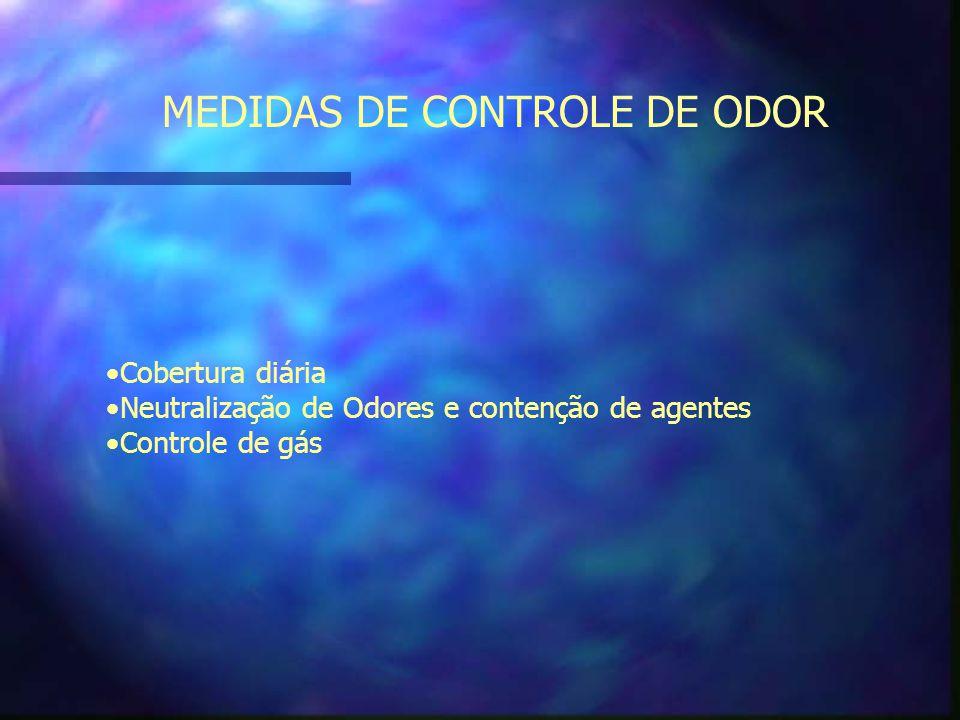 MEDIDAS DE CONTROLE DE ODOR