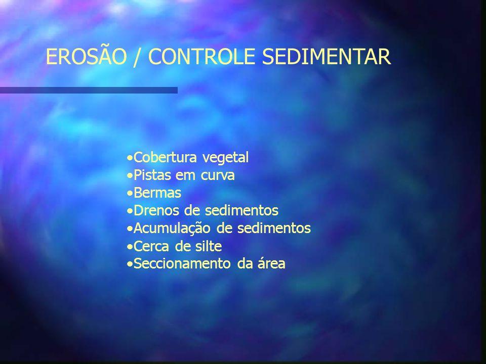EROSÃO / CONTROLE SEDIMENTAR