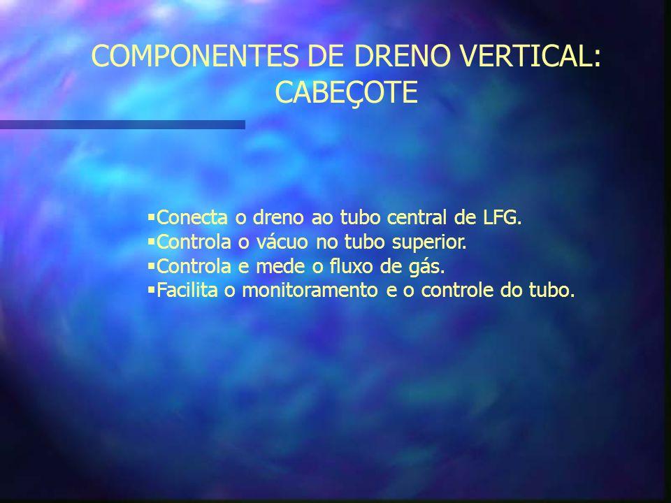 COMPONENTES DE DRENO VERTICAL: