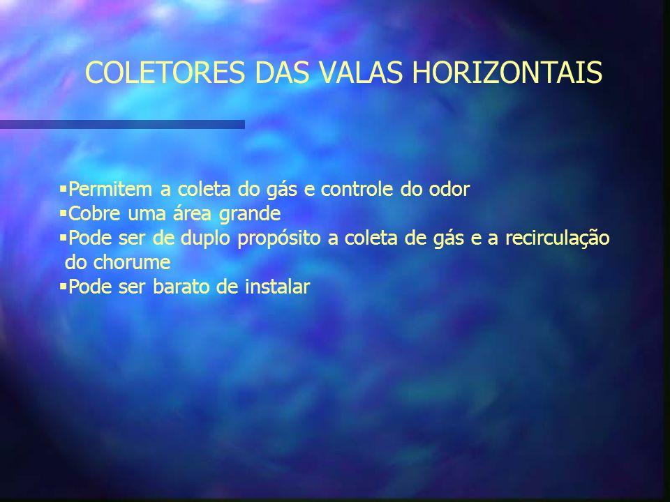 COLETORES DAS VALAS HORIZONTAIS