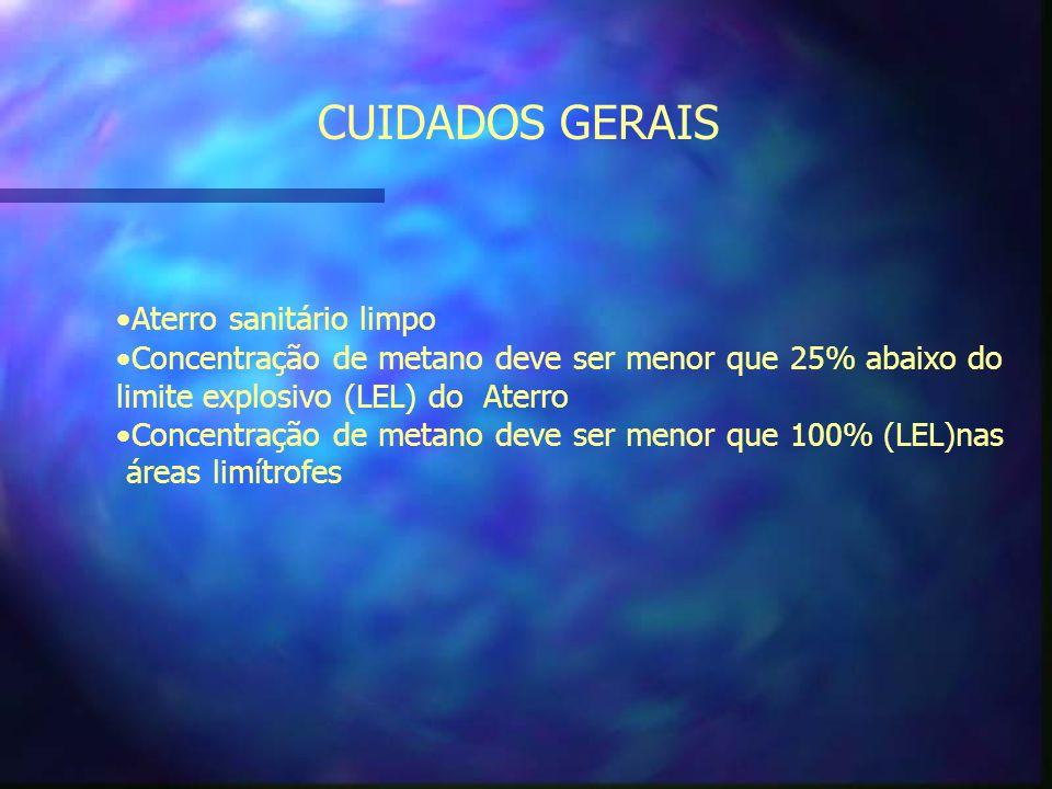 CUIDADOS GERAIS Aterro sanitário limpo