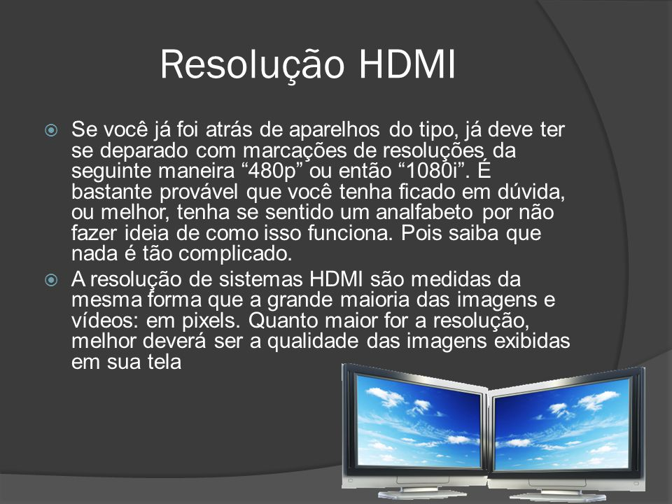 Resolução HDMI