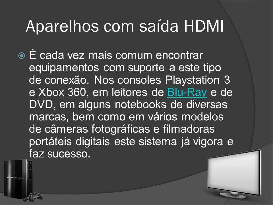 Aparelhos com saída HDMI