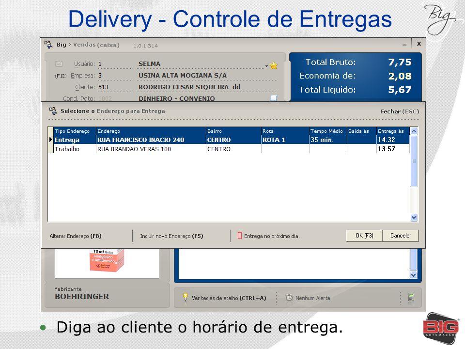 Delivery - Controle de Entregas