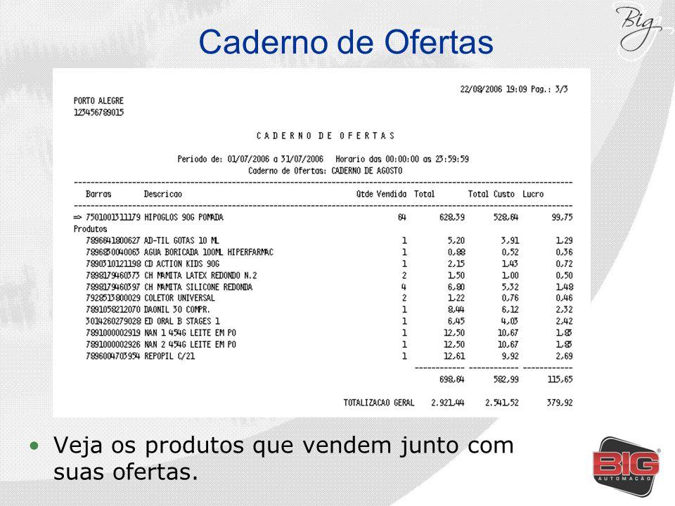 Caderno de Ofertas Veja os produtos que vendem junto com suas ofertas.