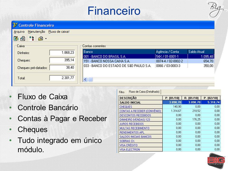 Financeiro Fluxo de Caixa Controle Bancário Contas à Pagar e Receber