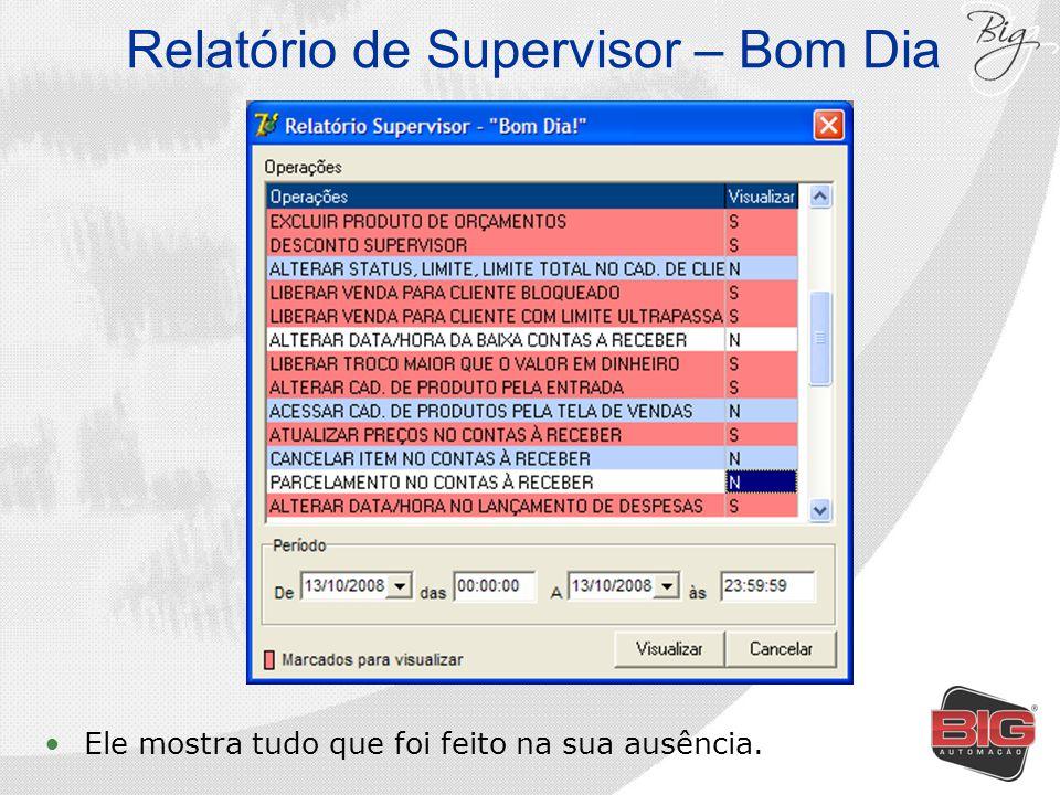 Relatório de Supervisor – Bom Dia