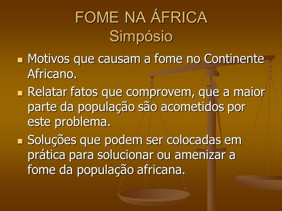 FOME NA ÁFRICA Simpósio