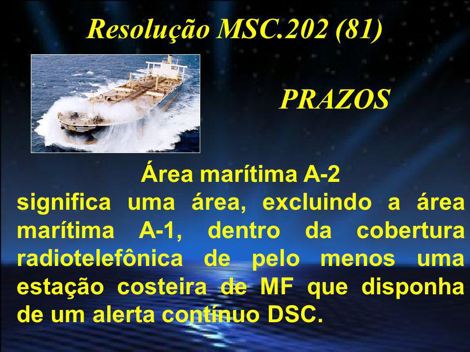 Resolução MSC.202 (81) PRAZOS