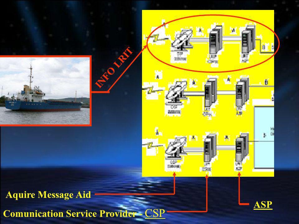 INFO LRIT Aquire Message Aid ASP Comunication Service Provider - CSP