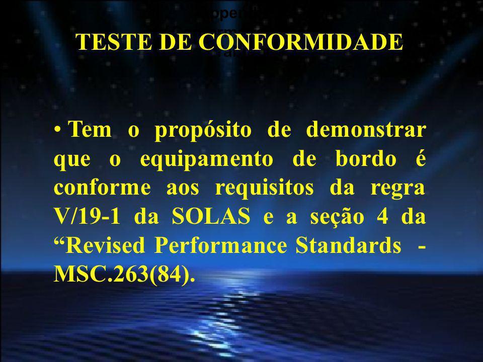Appendix 1 Conformance Test. Table 1. TESTE DE CONFORMIDADE.