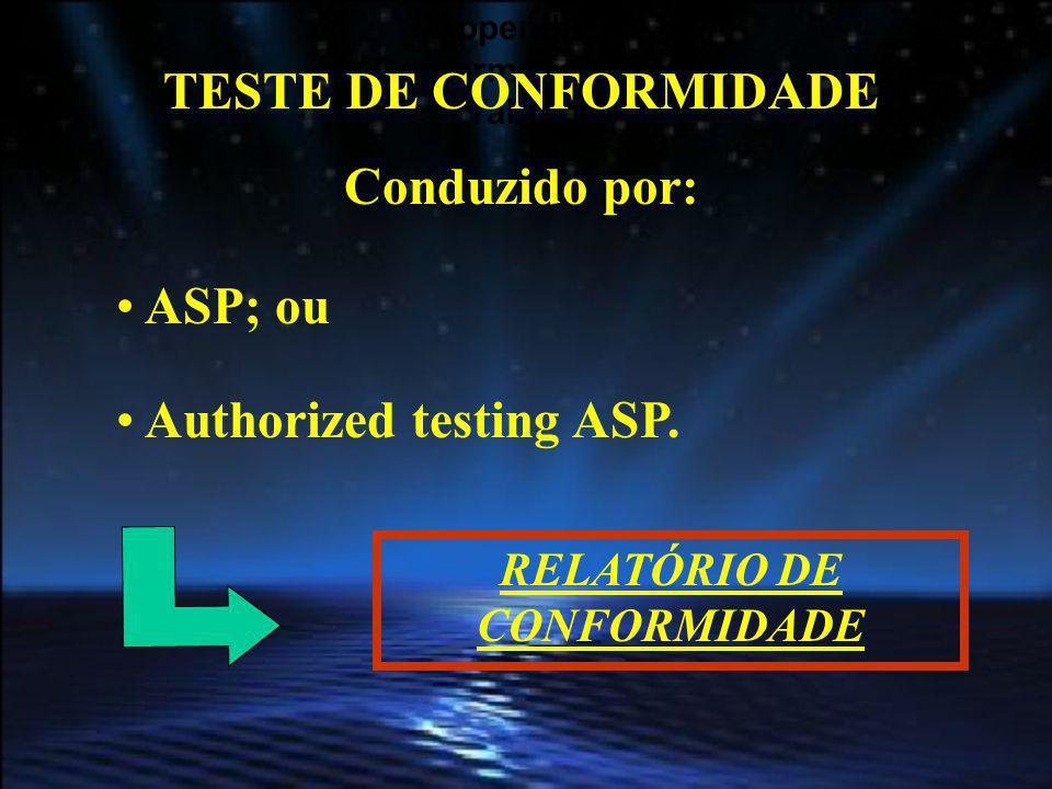 RELATÓRIO DE CONFORMIDADE