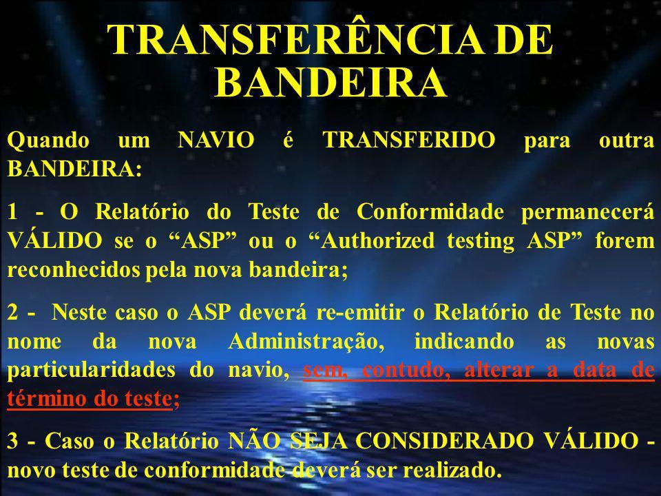 TRANSFERÊNCIA DE BANDEIRA