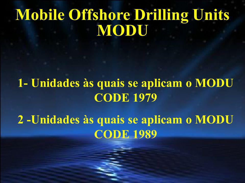 Mobile Offshore Drilling Units MODU
