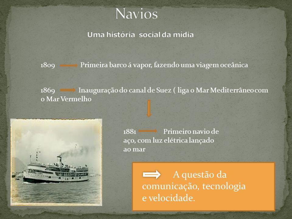Navios Uma história social da mídia